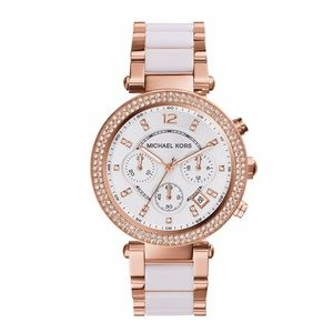❣️ Michael Kors Parker White & Rose Gold Watch